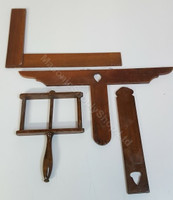 Set of Four Wooden Antique Lodge Working Tools