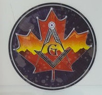 Masonic Glass Decal