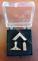 Set of Three  Masonic Lodge Officers Lapel Pins  silver Color