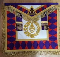 Royal Arch Grand Chapter Apron Purple Diamonds   APR-RA-GC-W-E