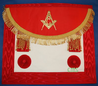 Scottish  Master Mason  Aprons Crimson Red