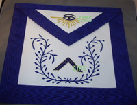 Worshipful Masters Apron with Wreath