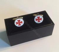 Knight Templar Cross  Round  Cufflinks