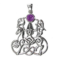 Sterling Silver Rhiannon Pendant with Amethyst
