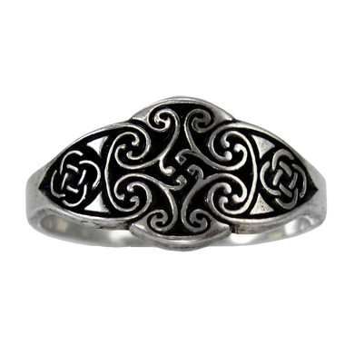 size thumb rings celtic band com inch sterling silver knot ring wedding dp amazon