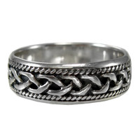 Woven Celtic Knot Ring Band
