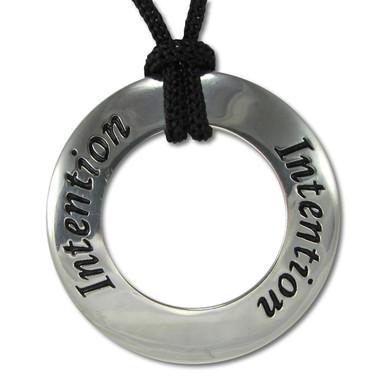 Intention Motivational Saying Pendant Necklace