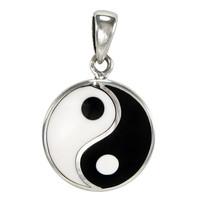 Small Sterling Silver Yin Yang Pendant Taoist Symbol of Balance Jewelry