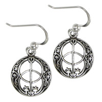 Sterling Silver Chalice Well Dangle Earrings