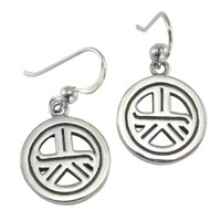 Sterling Silver Reiki Tam A Ra Sha Symbol Earrings Jewelry