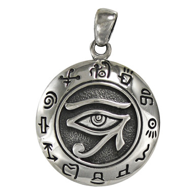 Egyptian eye of horus pendant ra udjat kemetic jewelry silver egyptian eye of horus pendant ra udjat kemetic jewelry aloadofball Images
