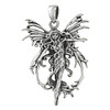 Sterling Silver Fire Fairy Pendant Art - Faerie Jewelry By Amy Brown