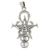 Sterling Silver Symbol Of Wizardry Pentagram Ankh Caduceus Pendant Jewelry