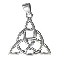 Silver Triquetra Pendant Celtic Knot Pagan Trinity Goddess Symbol Jewelry