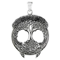 Sterling Silver Tree of Life Celtic Knot Pendant