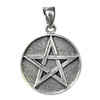 Sterling Silver Double Sided Yin Yang Pentacle Pentagram Pendant Jewelry