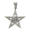 Celtic Knot Star Pendant - Sterling Silver Knotwork Jewelry for men or women