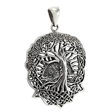 com sterling of tree knot life alloy on celtic chain inches dp pendant necklace silver amazon