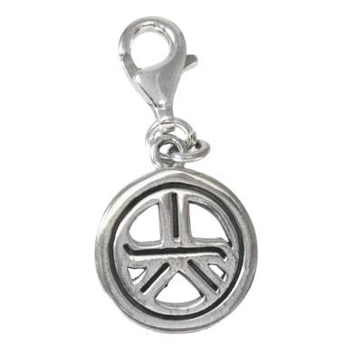 Tam A Ra Sha Reiki Energy Grounding Symbol Sterling Silver Clip Charm Jewelry