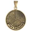 Bronze Papa Damballah Voodoo Veve Pendant Necklace