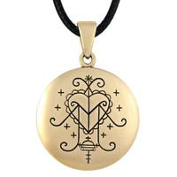 Bronze Ezili Freda Voodoo Veve Pendant Necklace