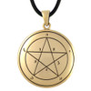 Bronze First Pentacle of Mercury Key of Solomon Pendant Ceremonial Magic Amulet Jewelry