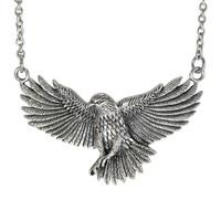 Sterling Silver American Bald Eagle Necklace