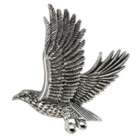 Sterling Silver Flying Falcon Hawk Pendant Bird of Prey Jewelry