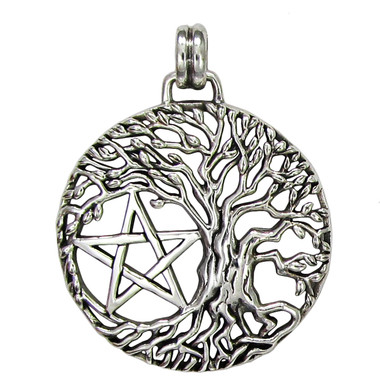 Tree Of Life Yggdrasil Pentacle Pentagram Pendant Wiccan