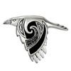 Sterling Silver Flying Celtic Raven Pendant
