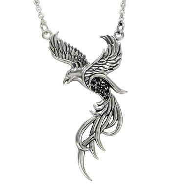 Sterling Silver Phoenix Necklace Pendant