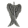 Large Sterling Silver Folded Angel Wings Pendant