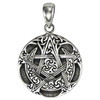 Sterling Silver Small Moon Pentacle