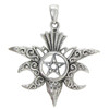 Sterling Silver Moon Raven Pentacle