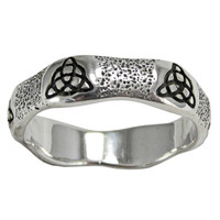 Sterling Silver Celtic Knot Triquetra Ring for Men or Women
