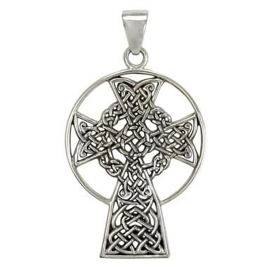 Sterling Silver St. Andrews Celtic Knot Cross Pendant