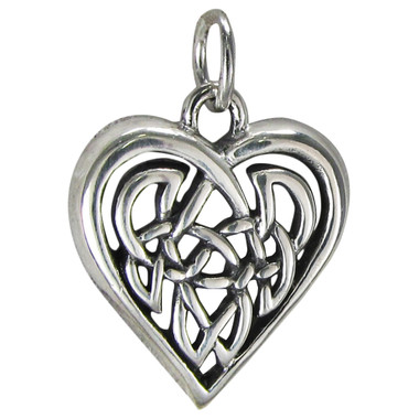 Sterling Silver Celtic Love Knot Heart Charm