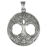 Sterling Silver Tree of Life Celtic Knotwork Pendant
