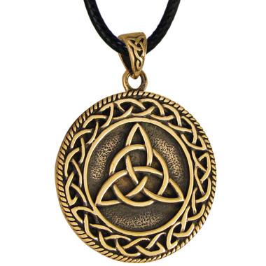 Bronze Triquetra Celtic Knot Pendant