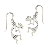 Sterling Silver Kokopelli Symbol Earrings Southwestern Jewelry