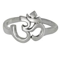 sterling silver aum om symbol hindu ring - Wiccan Wedding Rings