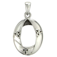 Sterling Silver Celtic Knot Woven Triquetra Pendant