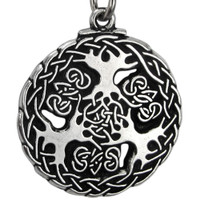 Pewter Yggdrasil Viking World Tree Pendant