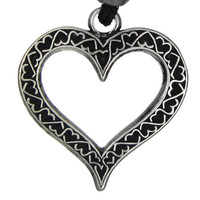 Heart of Hearts Victorian Love Pewter Pendant Necklace
