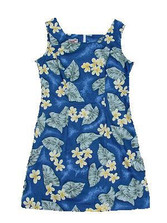 Ocean Plumeria Short Tank Dress