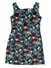 Paradise Plumeria Short Tank Dress