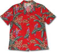 Jungle Bird Womens Hawaiian Camp Shirt