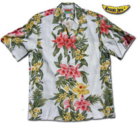 Annahula Orchid Panel Men's Hawaiian Shirt
