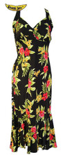 Pele Red Hawaiian Halter Dress