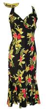 Pele Red Hawaiian Halter Dress